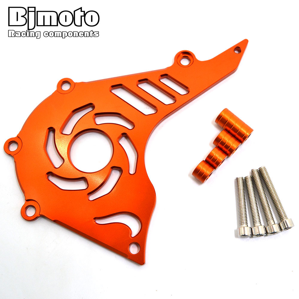 BJMOTO Motorcycle CNC Aluminum Front Sprocket Cover Engine Chain Guard Case Protection for KTM DUKE 200 bjmoto cnc aluminum motorbike accessaries motorcycle engine guard cover pad for kawasaki z1000 r 2010 2011 2012