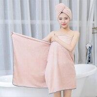 Follome Women Soft Bath Towel Body Spa Bath Big Thick Towel Shower Solid 70 140cm