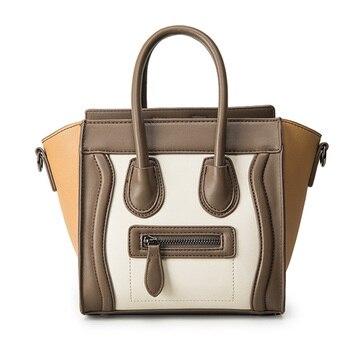 55e34da605 Bolsos Mujer 2016 Trapeze Smiley Tote Bag Luxury Brand Pu Leather Women  Handbag Shoulder Bag Famous Designer Crossbody Bags Sac