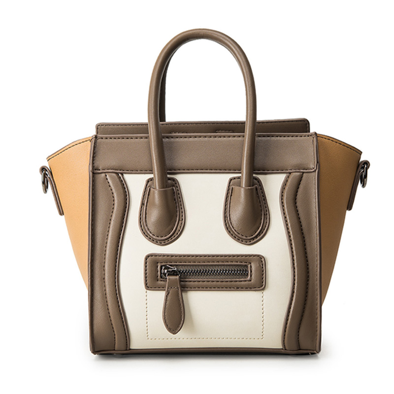 Bolsos Mujer 2016 Trapeze Smiley Tote Bag Luxury Brand Pu Les