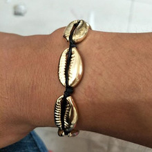 Puka Natural gold cowrie Shell necklace women Beach Tassel Necklace cowry seashell bijoux collier femme