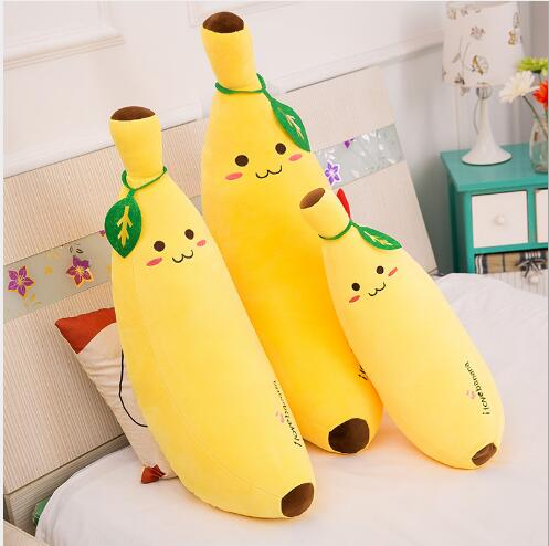 WYZHY  Plush Toys Creative Software Banana Pillow Simulation Fruit Cushion Birthday Gift 30CM