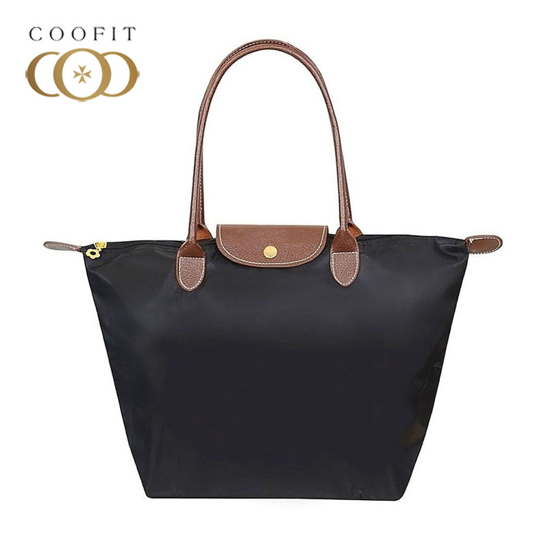 Coofit Fashion Casual Tote Bags Women's Brand Handbag Waterproof Oxford Large Tote Shoulder Bag For Shopping Female Handbag Sac bestir three size the middle pvc fabric oxford tool bags waterproof case handbag toolkit with knapsack belt 05132