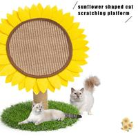 Sunflower Shape Cat Scratching Platform Post Grinding Claw Toy Sisal Material Scratch Resistant Toy For Pet Cats