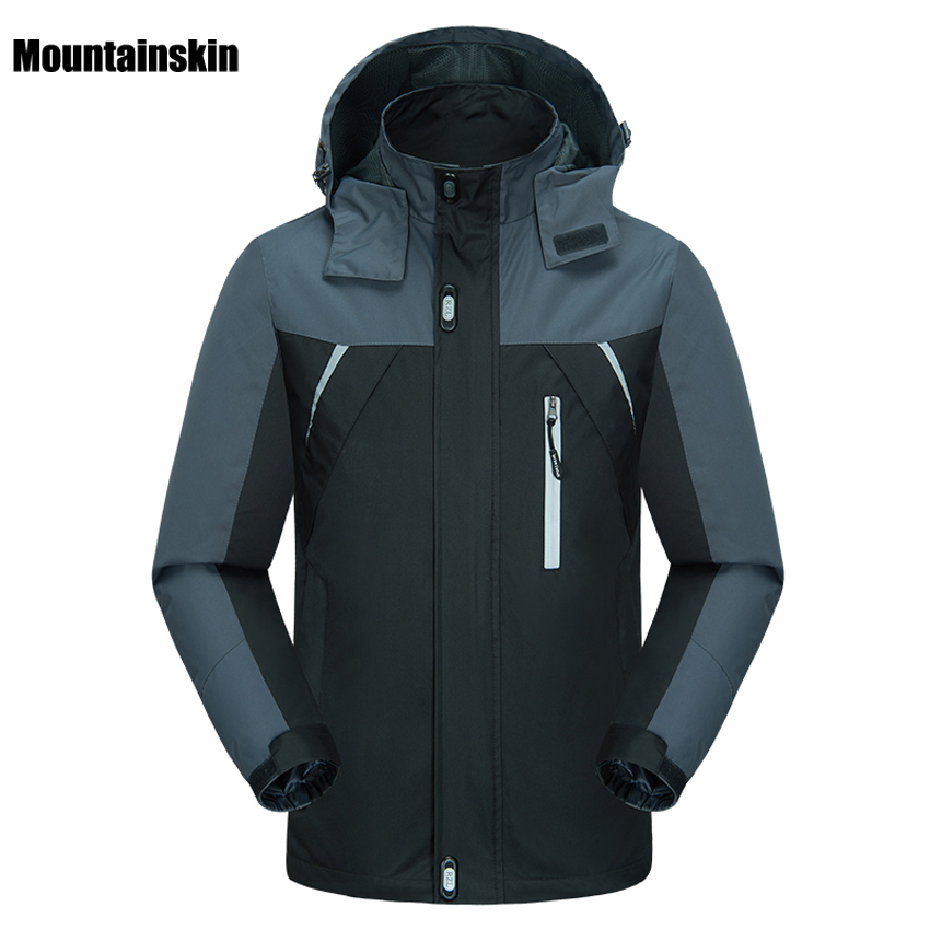 Mountainskin Men's Spring Breathable Waterproof Thin Jackets Outdoor Sports Male Coats Hiking Trekking Fishing Windcheater VA120