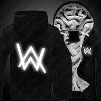 New Men Winter Coats Jackets Alan Walker Hoodie HipHop Casual Zipper Warm Sweatshirts