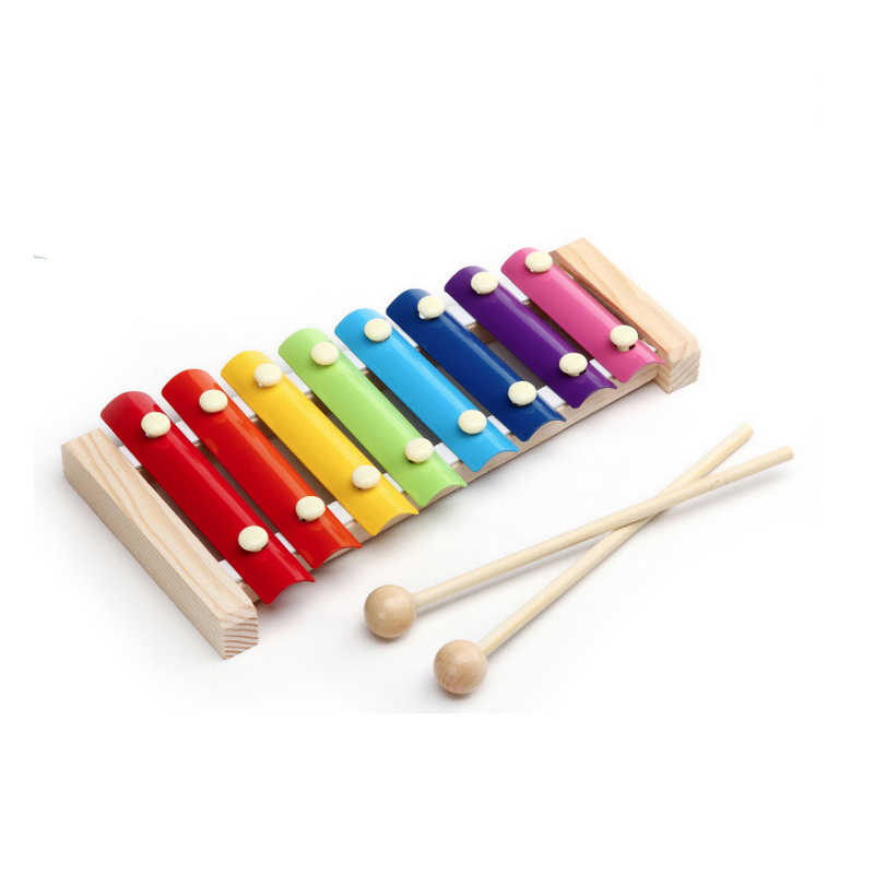 8 Scales Xylophone Baby Infant Toy Musical Instrument Puzzle Toys Musical Musical Instruments Children's Gifts