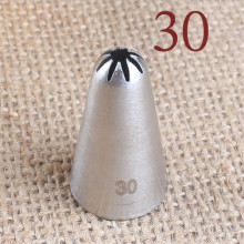 #30 Cream Icing Nozzle Piping Tip Stainless Steel Cake Decorating Tips Pastry Tools Bakeware Small Size