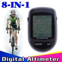 Digital 8 In 1 LCD Electronic Compass Altimeter Barometer Thermometer Weather Forecast Time Thermo Temperature