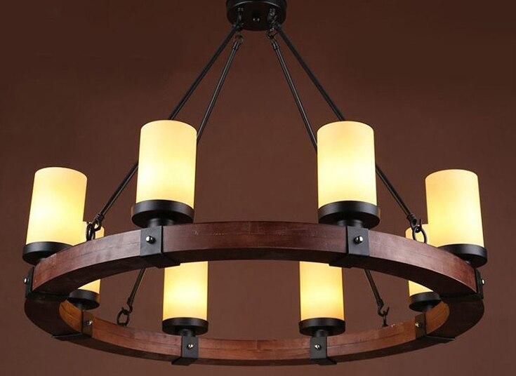 Europe Pays 6/8 Têtes Lustre Américain Rétro Lampes Décoration de La Maison Éclairage Salle À Manger Lumières E14 110-240 v WPL127