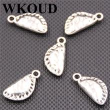 Wkoud 15 шт серебряного цвета металлическая еда пельмени подвески
