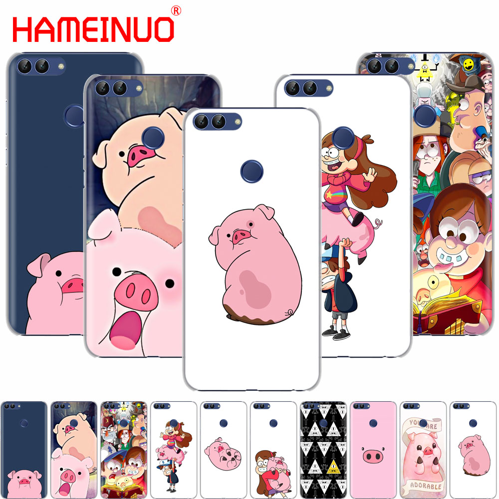 HAMEINUO Gravity Falls pig cell phone Cover Case for huawei Honor7C Y5 Y625 Y635 Y6 Y7 Y9 2017 2018 Prime PRO Сотовый телефон