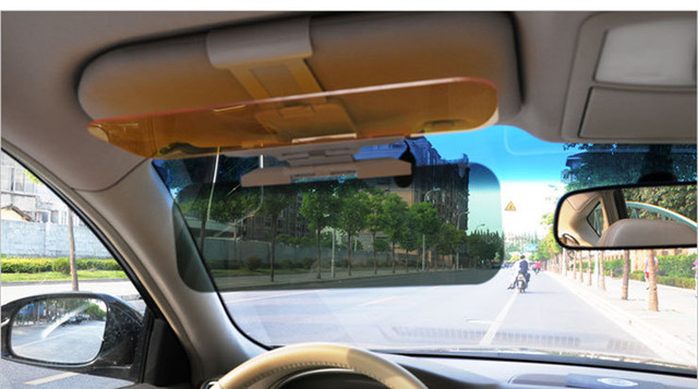 2017 new arrvial Car supplies day and night anti-glare mirror Fold Flip cars sun visor car accessories AP8841