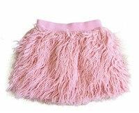 Cute 2017 Baby Girls Winter Skirt Faux Sheep Fur 2 7Y Little Girls Tutu Skirt Thicker