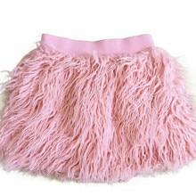 Cute! 2020 Baby Girls Winter Skirt Faux Sheep Fur 2~7Y Little girls Tutu
