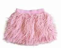 Cute 2018 Baby Girls Winter Skirt Faux Sheep Fur 2 7Y Little Girls Tutu Skirt Thicker