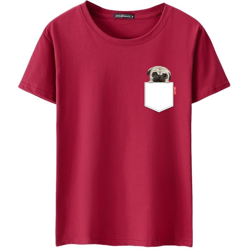 2018 Girocollo Da Uomo T-Shirt Casual Stile di Estate Del Cotone Manica Corta Multi Colore Del Fumetto Maschio