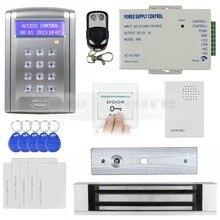 DIYSECUR Door Bell 125KHz Rfid ID Card Reader Keypad Door Access Control System Kit + 180KG 350lb Magnetic Lock BC200