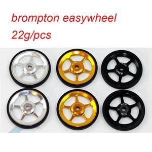 Image 5 - 1 paar Fahrrad Easywheel 3 Farben Aluminium Legierung Super Leichte Einfach Räder + Titan schrauben Für Brompton 22 gr/teile