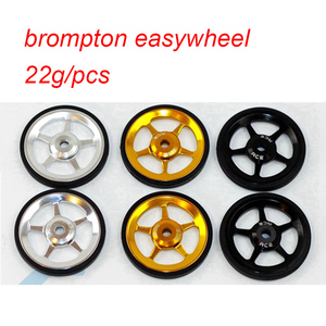 Image 5 - 1 pair Bicycle Easywheel 3 Colors Aluminum Alloy Super Lightweight Easy Wheels + Titanium bolts For Brompton 22g/pcs