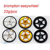 1 pair Bicycle Easywheel 3 Colors Aluminum Alloy Super Lightweight Easy Wheels + Titanium bolts For Brompton 22g/pcs
