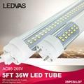 LEDVAS 5ft 1.5 m 1500mm T8 Tubos de Led de Alta Brilhante 36 W 3000 K 6500 K Branco Fresco Quente lojas de fábrica Levou Luz AC85-265V #25 Pçs/lote