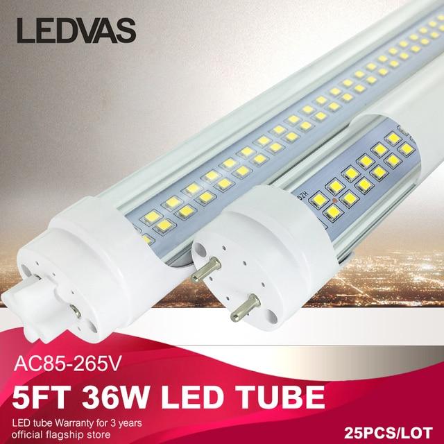 LEDVAS 5ft 1.5m 1500mm T8 Led Tubes High Bright 36W 3000K 6500K Warm Cool White factory outlets Led Light AC85-265V #25Pcs/lot