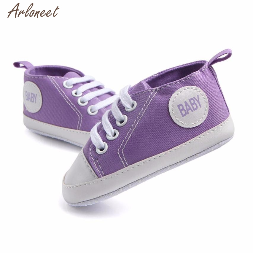 2017 shoes baby light boy Canvas Patch shoes kids unisex Solid baby shoes first walker DEC22