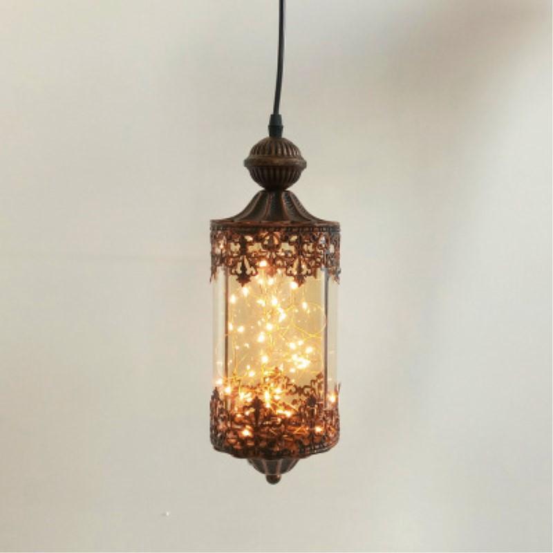American Country Retro Loft Concise Style Glass Pendant Light Retro Loft Cafe Restaurant Decoration Lamp Free