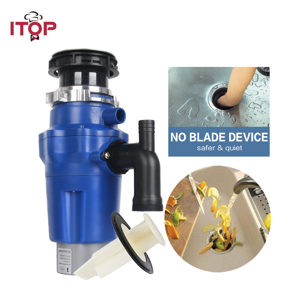 ITOP Electric Food Waste Processor Garbage Disposal Kitchen Household 380W500W 220V EU Plug