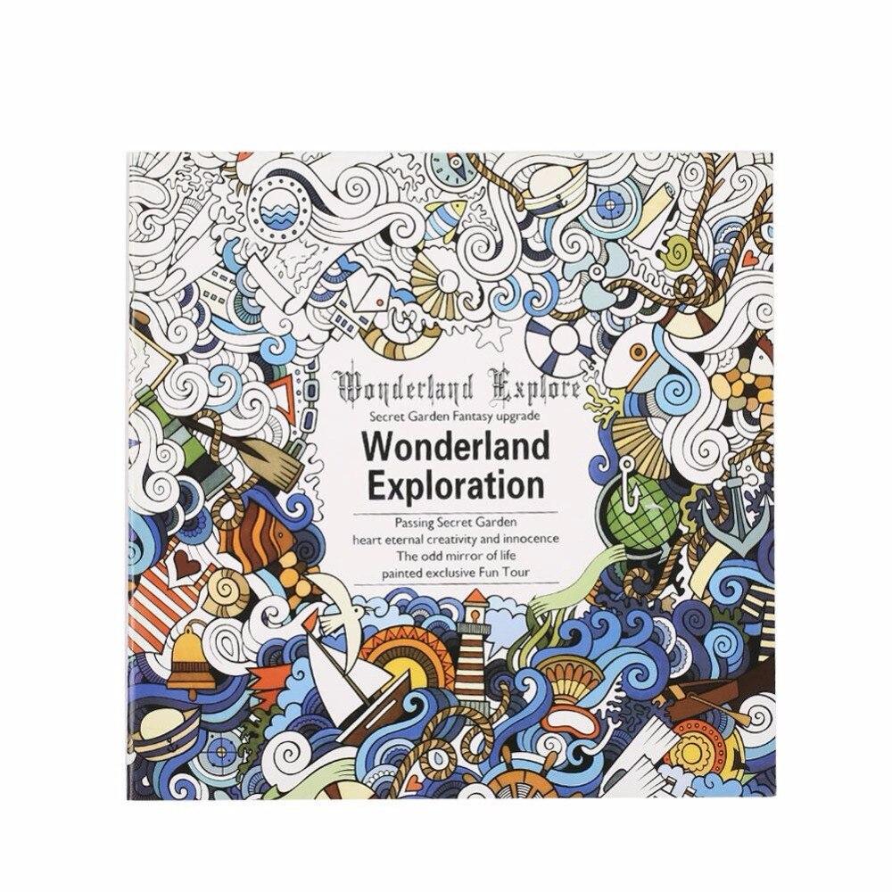 Coloring book untuk dewasa - Dicat Warna Buku Bahasa Inggris Buku Mewarnai Buku Lukisan Menggambar Buku Hadiah Untuk Anak Anak