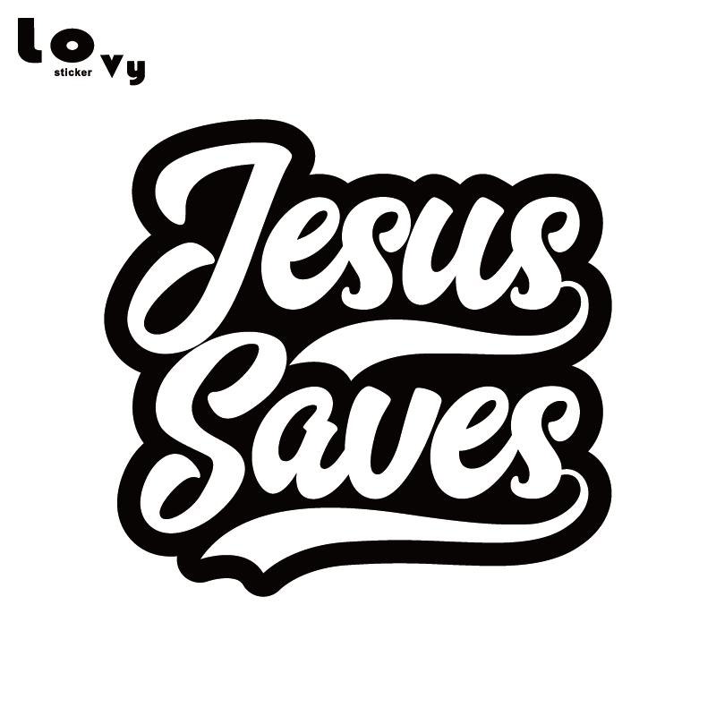 Jesus Save Vinyl Car Sticker Christian Religious Car Decal For Car Body Window Decoration  CA1257