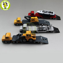 SIKU 1610 1611 1613 1616 Truck Trailer Low Loader with Excavator Bulldozer Yacht Helicopter Diecast Car Model Toys for kids gift(China)