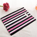 15x20cm Hot Pink Black Stripe Plastic Bags With Handle 100pcs/lot Mini Jewlery Gift Boutique Packaging Plastic Bag  H035
