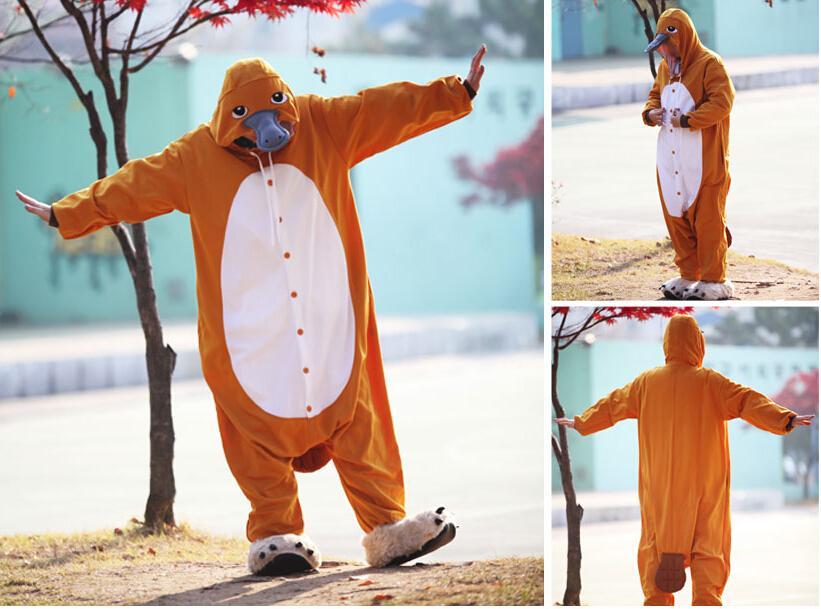 Adults Platypus Costumes Mans Cosplay Party  Funny Performance Clothing Onesies Carnival Costumes