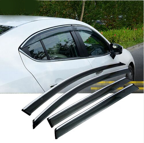 ACCESSORIES FIT FOR Mazda 3 BM AXELA SEDAN 2014-2016 SIDE WINDOW RAIN DEFLECTORS GUARD VISOR WEATHERSHIELDS DOOR SHADE 4pcs set smoke sun rain visor vent window deflector shield guard shade for cadillac xt5 2016 2017