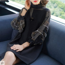 Wholesale New Comfortable Long Sleeves Women Dress Stand Col