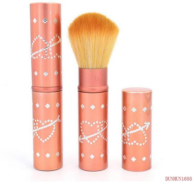 telescopica pincel de blush cabelo ondulado de seda de nylon alergia beleza ferramentas multi cor opcional
