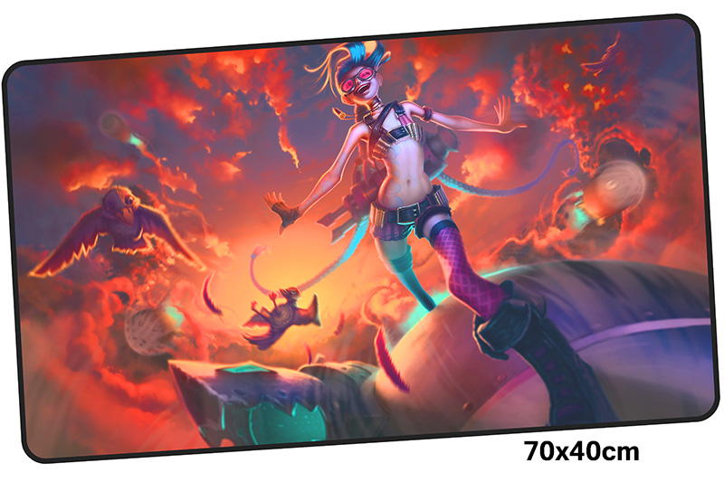 jinx mousepad gamer 700x400X3MM gaming mouse pad large Aestheticism notebook pc accessories laptop padmouse ergonomic mat