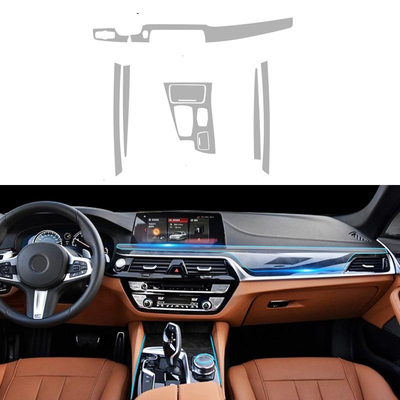 Styling de voiture Pour BMW F10 5 Série Haute Qualité TPU Autocollants center Console Phare Ballast Décoratif Protection Film