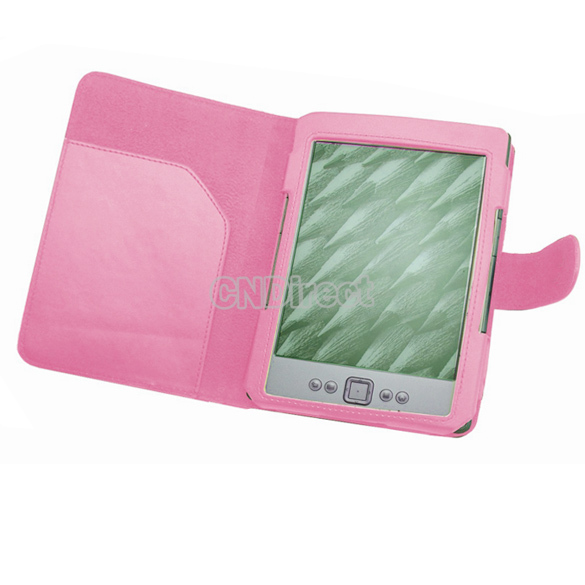 Holiday Sale! For Latest Amazon Kindle 4 4th Generation PU Leather Pouch Case Cover Pink 59x