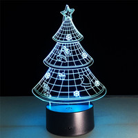 3D Optical Illusion LED Table Night Light With Remote Control USB Cable Led Desk Lamp For
