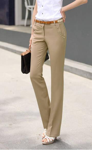 f1f3077980e0c US $20.24 10% OFF|Fashion 2018 Women Pants Spring Summer Plus Size Pants  Formal Ol Pant Casual Slim Work Wear Western style High Waist Pants  Women-in ...