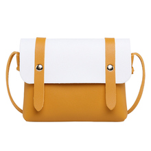 Trendy Contrast Color Shoulder Bag Temperament Easy To Take The Age Change Coin Phone Messenger 2019 Summer New Womens