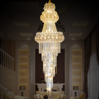 Large Modern Led Chandelier Lighting 110 240V Lustres Gold K9 Crystal Chandelier Light Remote Control Hotel