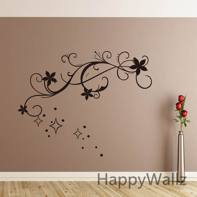 3d flower wall sticker beautiful flower wall decal diy decorating floral wines sticker flower wallpapers f52