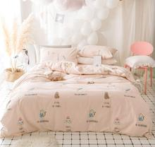 Cute character bedding set teen kid girl,twin full queen king cotton single double home textile bedsheet pillow case duvet cover