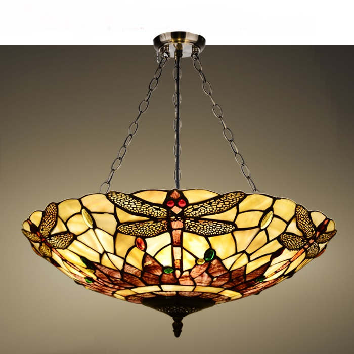 light living room bedroom study room Pendant Lights shell hanging lamp pendant lamp Vintage American country garden