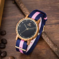 Uwood Women Zebra Sandal Wood Watch Nylon Band Fashion Wooden Watch With Multi-Color Striped Band Gift Watch Free Shipping