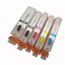 PGI-570 CLI-571 Refillable Ink Cartridge for Canon PGI570 PIXMA TS5055 MG5750 MG5751 MG5752 MG5753 MG6850 MG6851 MG6852 MG6853 5pcs 570 pgi 570 cli 571 empty refillable ink cartridge for canon pixma mg5750 mg5751 mg5752 mg5753 mg6850 mg6851 mg6852 mg6853